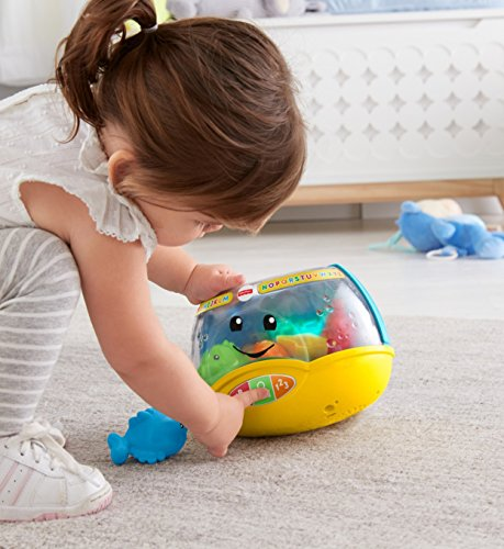 51LXWGNQ4yL - Fisher-Price Laugh & Learn Magical Lights Fishbowl