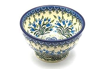 Polish Pottery Bowl - Pedestal - Small - Blue Bells  sc 1 st  Amazon.com & Amazon.com: Polish Pottery Bowl - Pedestal - Small - Blue Bells ...