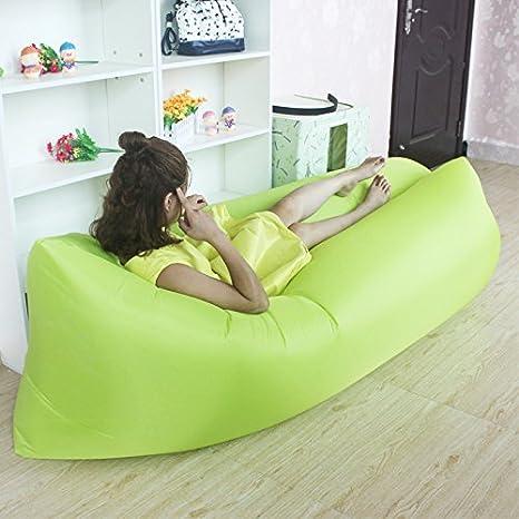 Sesaisi Sofá inflable portátil de dormir, sillón colchón hinchable ...