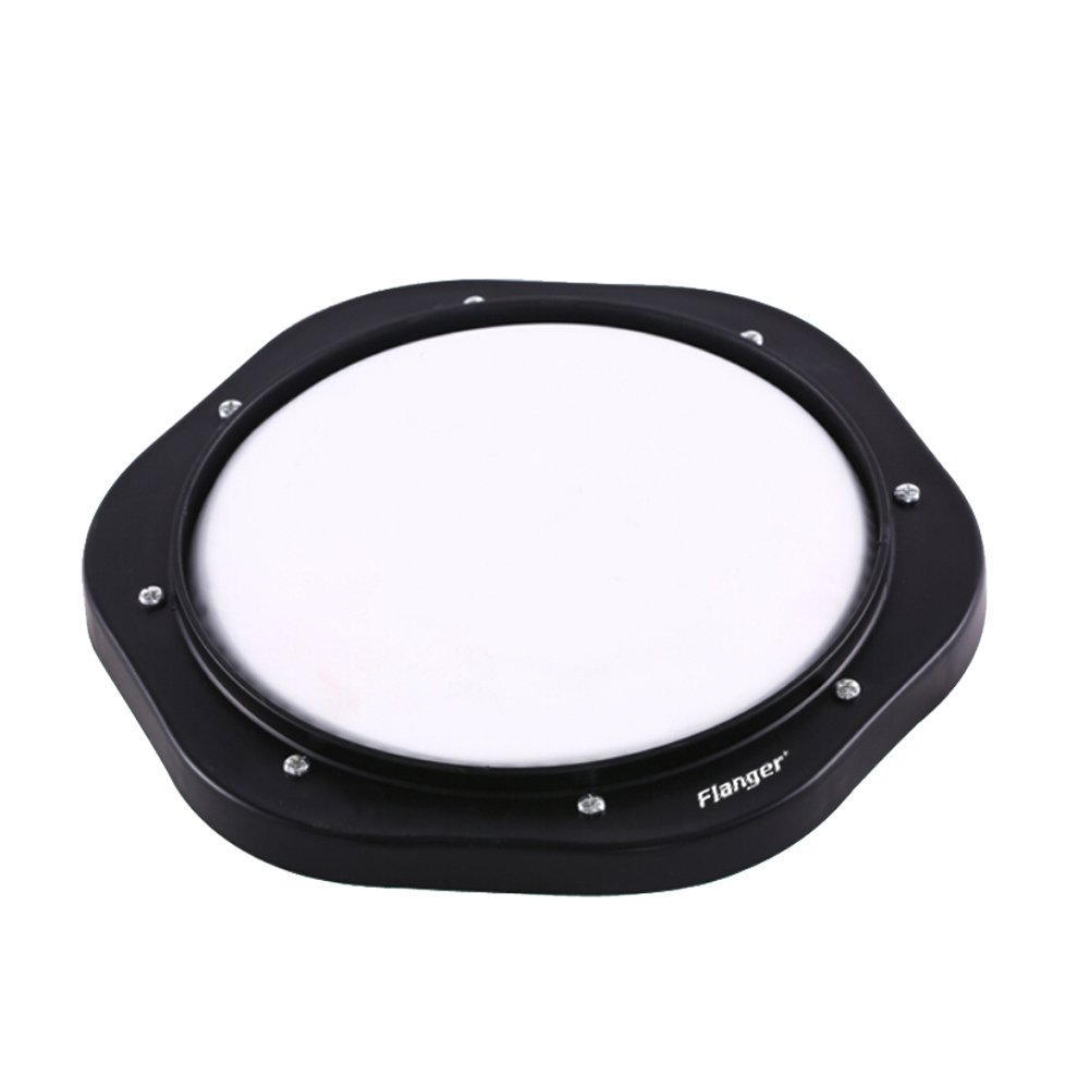 Flanger FMD-201 10'' Drum Practice Pad Black And White by Flanger