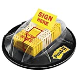 Page Flags in Dispenser, ''''Sign Here'''', Yellow, 200 Flags/Dispenser, Sold as 200 Each