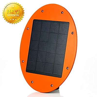 Newest Solar Powered Security Motion Sensor Wall Lights 300lm Oval Shape Bigger and Brighter Wall Sconces Night Lights for Wall Patio Path Deck Yard Garden Garage Fence