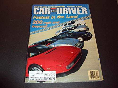 Car And Driver Dec 1987 Toyota MR2 Supercharged