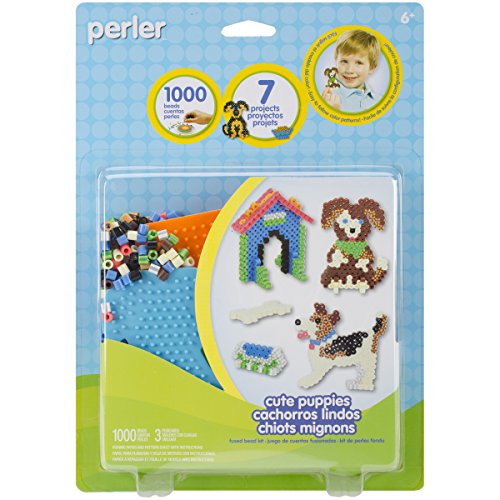 Perler Fun Fusion Fuse Bead Activity Kit, Cute Puppies - Cute Bead