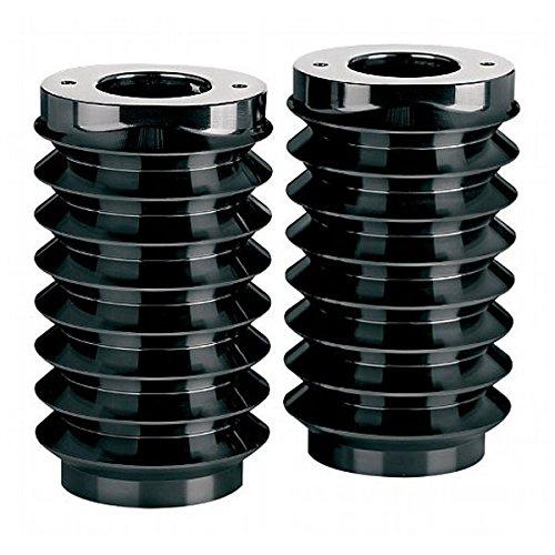 Black Retro Fork Boots - Arlen Ness 20-037 Black Ness Fork Boot Cover