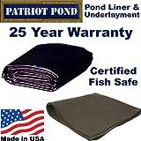 10 x 20 45 mil EDPM Patriot Pond Liner & Underlayment Combo
