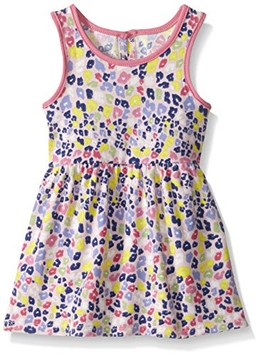 Marmellata Baby Rainbow Animal Print Knit Dress, Multi,
