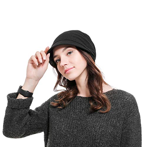 Loprt Men and Women Simple Fashion Big Hat Caps Outdoor Head Caps (Black) -
