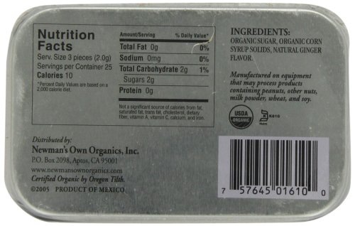 Newman's Own Organics Mints, Ginger, 1.76-Ounce Tins (Pack of 6) by Newman's Own (Image #4)
