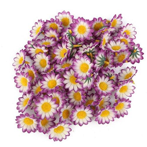 Daisy Wedding Decorations - Topix Gerbera Daisy Flowers Heads for DIY Wedding Party (100, White)
