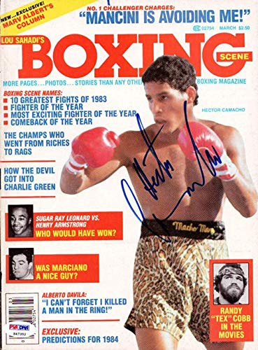 "Hector""Macho"" Camacho Autographed Boxing Scene Magazine Cover #S47352 PSA/DNA Certified Autographed Boxing Magazines"