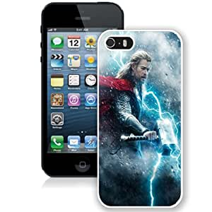 NEW Unique Custom Designed iPhone 5S Phone Case With Thor The Dark World_White Phone Case
