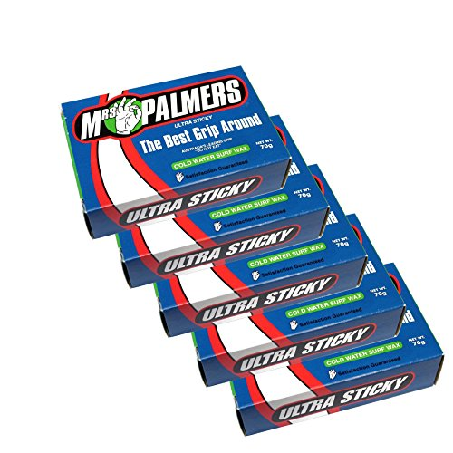 Mrs Palmers Unisex Surf Wax Cold Five Pack (Wax Surf Palmers Mrs)