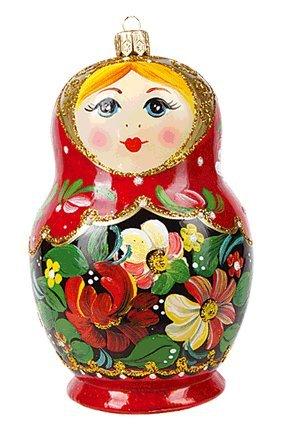 Russia Christmas Ornaments.Amazon Com Matryoshka Doll Russian Polish Glass Christmas