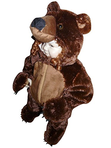Cute Bear Jumpsuit Costumes (Fantasy World Brown Bear Halloween Costume f. Toddlers/Boys/Girls, Size: 2t, F67)