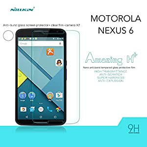 Nillkin Amazing H+ - Protector de pantalla 9H 2.5D cristal templadocon bordes curvados para Motorola Nexus 6 (Google)