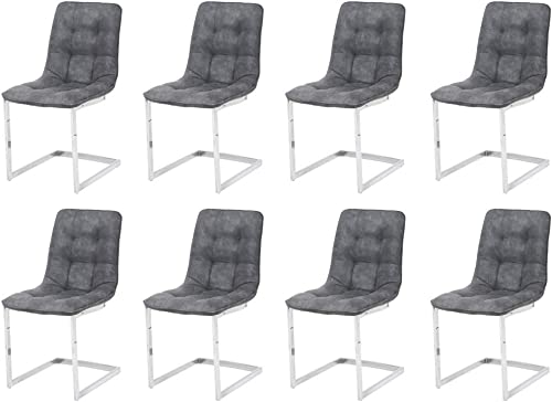 Dining Chairs Set of 8 Grey Chairs