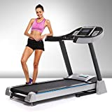 eshion 4.5 HP Folding Electric Treadmill Exercise Compact Portable Running Gym Machine, Profesional Physical Training for Home/Gym,Black [US Stock]