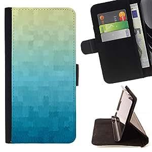 For Samsung Galaxy S5 V SM-G900 Case , Fondo de pantalla de la tela escocesa azul- la tarjeta de Crédito Slots PU Funda de cuero Monedero caso cubierta de piel