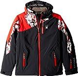 Spyder Kids  Boy's Avenger Jacket (Big Kids) Black/Mini Camo White/Red 12