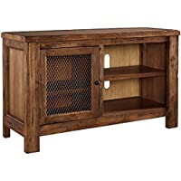 Signature Design by Ashley W830-18 Tamonie TV Stand with Fireplace Option, Brown