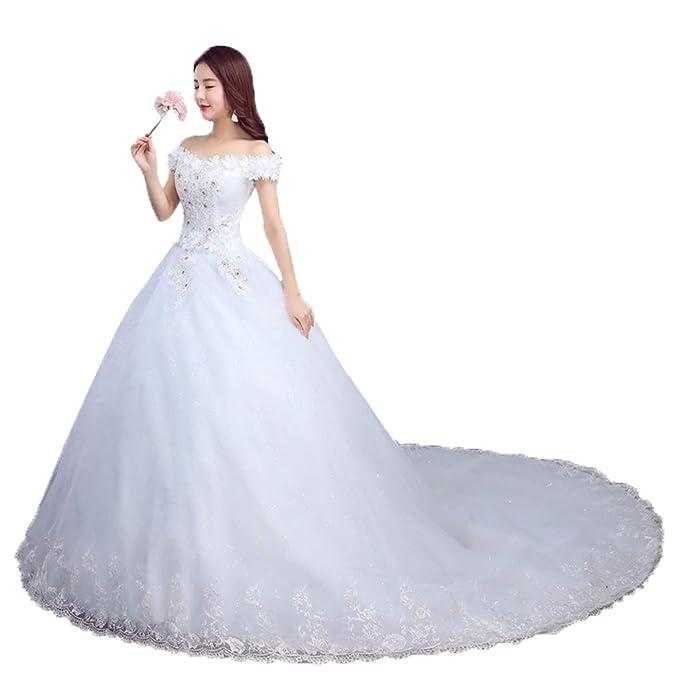 48c9e28a66c69 YAONAI Vestidos de Novia del Hombro