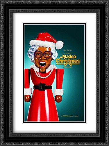 Tyler Perry's A Madea Christmas 18x24 Double Matted Black Ornate Framed Movie Poster Art - Galleria Of Tyler