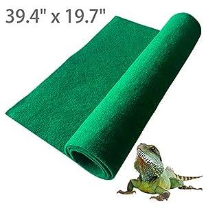 Hamiledyi Reptile Carpet,Terrarium Liner,Lizard Cage Liner,Tortoises Heat Mat,Chameleon Bedding,Iguana Substrate,Reptile…
