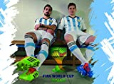 Argentina National Soccer Team #01 - 24X36 Metal Aluminum Wall Art