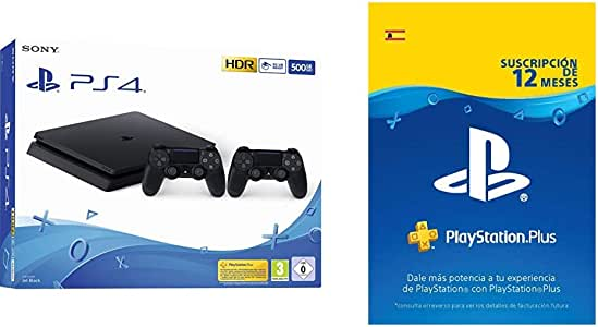 Playstation 4 Consola (500 Gb) + 2 Mandos DualShock 4 + PS Plus ...