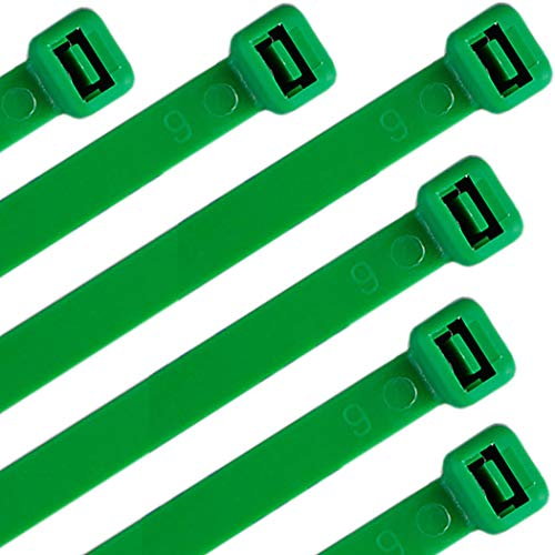 Nylon Cable Zip Ties 16 Inch 120 Pounds Strength - WEEGCN 100 Pcs Heavy Duty Self-Locking Zip Ties Fasten Wrap Nylon Cable Straps Wire Ties for Organizing Wires, Home,Garden & Office Use,Green