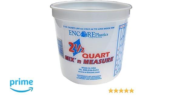 Amazon.com: Encore Plastics LS61086 2.5 Quart Mix\' N Measure ...