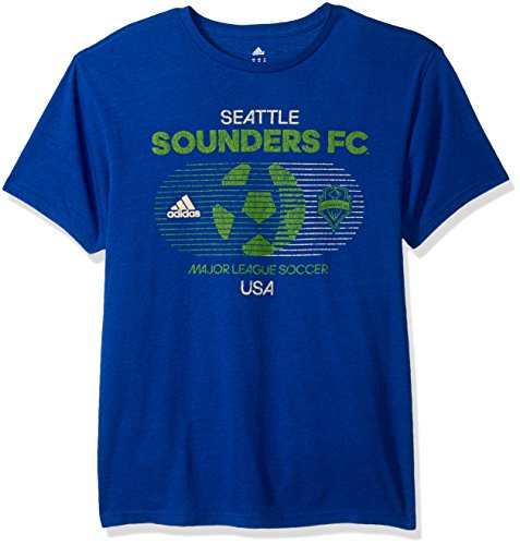 fan products of MLS Seattle Sounders FC Men's Soccer World Tri-Blend S/Tee, Large, Blue