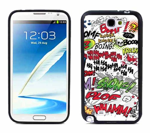 NT2 Comic Book Words For Samsung Note 2 N7100 Case Cover