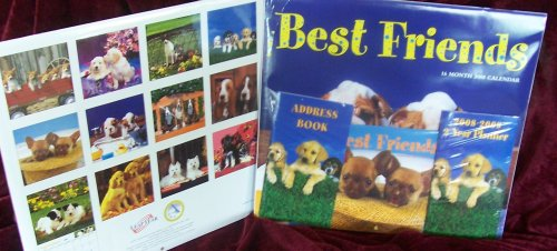 16 Month 2008 Best Friends Wall Calendar Bonus Pack (Calendar Puppies 2008)