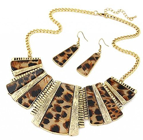 JSDY Womens Girls Vintage Punk Leopard Metal Dangle Pendants Necklaces Unique Jewelry ()