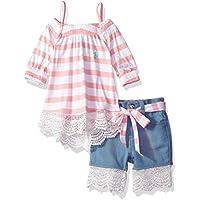 U.S. Polo Assn. Baby Girls Fashion Top and Short Set