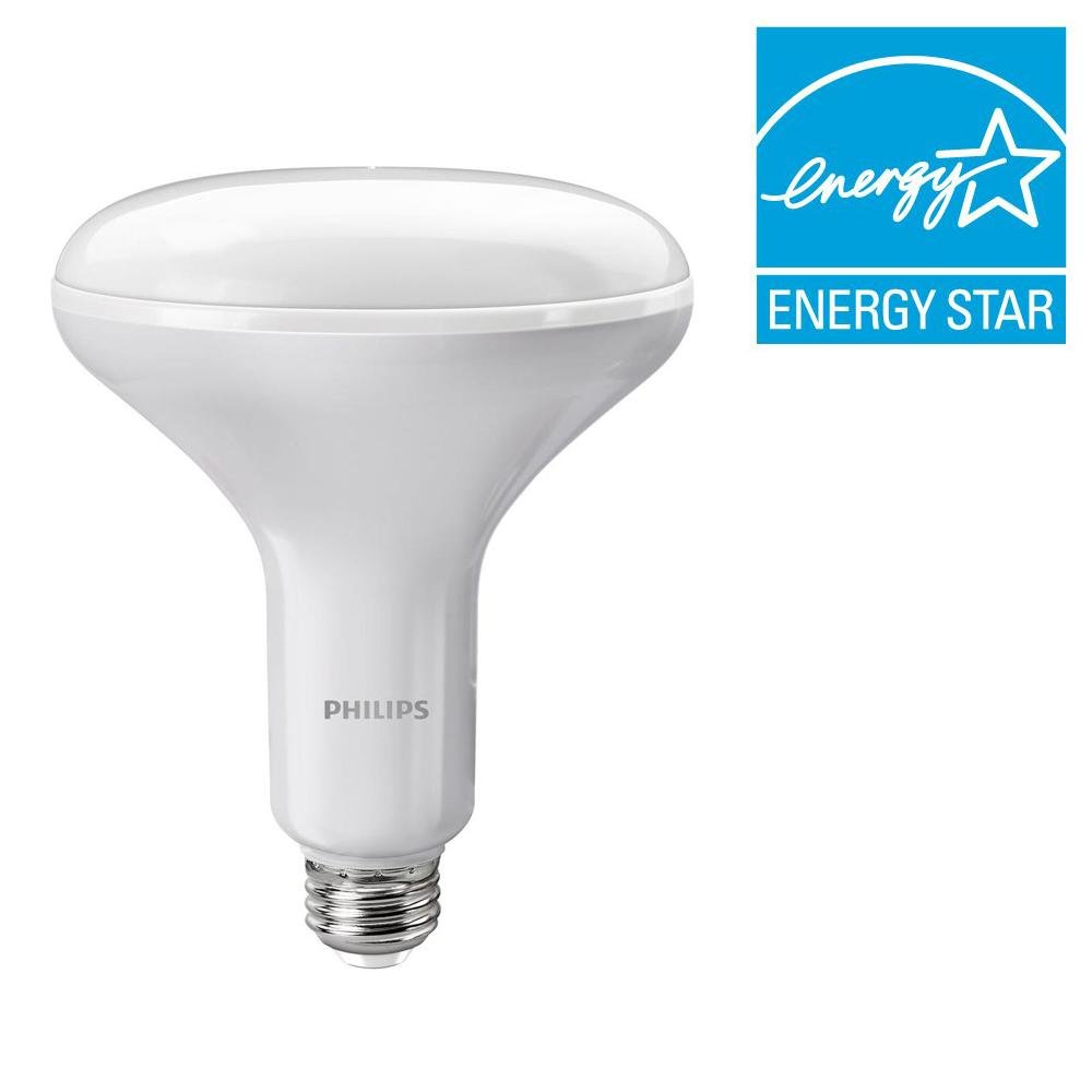 Philips 65W Equivalent Soft White BR40 Dimmable with Warm Glow Light Effect LED Light Bulb 457002