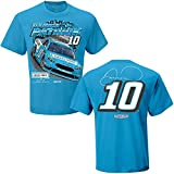 NASCAR Men's Spoiler 2-Spot-Driver/Sponsor T-Shirt-Danica Patrick #10-Nature's Bakery-Light Blue-Medium