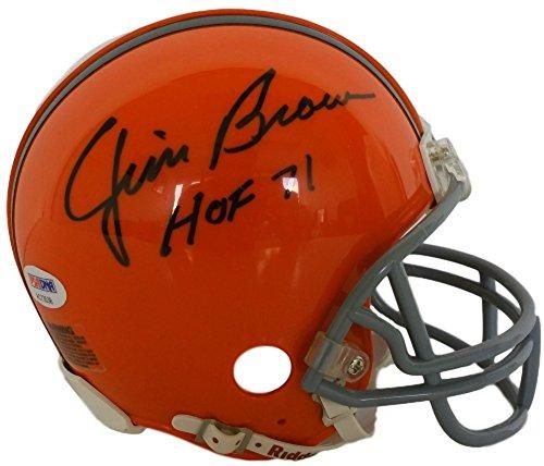 Jim Brown Signed Cleveland Browns Mini Helmet Inscribed H...