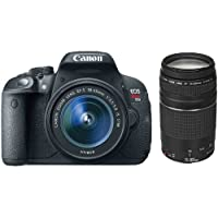 Canon EOS Rebel T5i D-SLR Camera with EF-S 18-55mm f/3.5-5.6 IS STM Lens + Canon Zoom Telephoto EF 75-300mm f/4.0-5.6 III Autofocus Lens