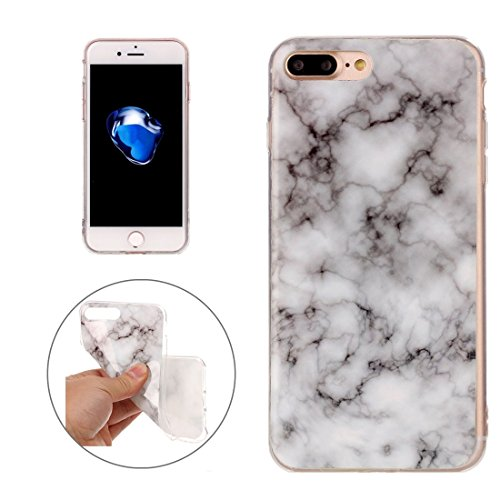 For iPhone 7 Plus/8 Plus Case with Blue Marble Pattern, Full Coverage Protective Back Cover, Soft TPU Protect Case for Apple iPhone 7 Plus/8 Plus ( SKU : Ip7p1209e )