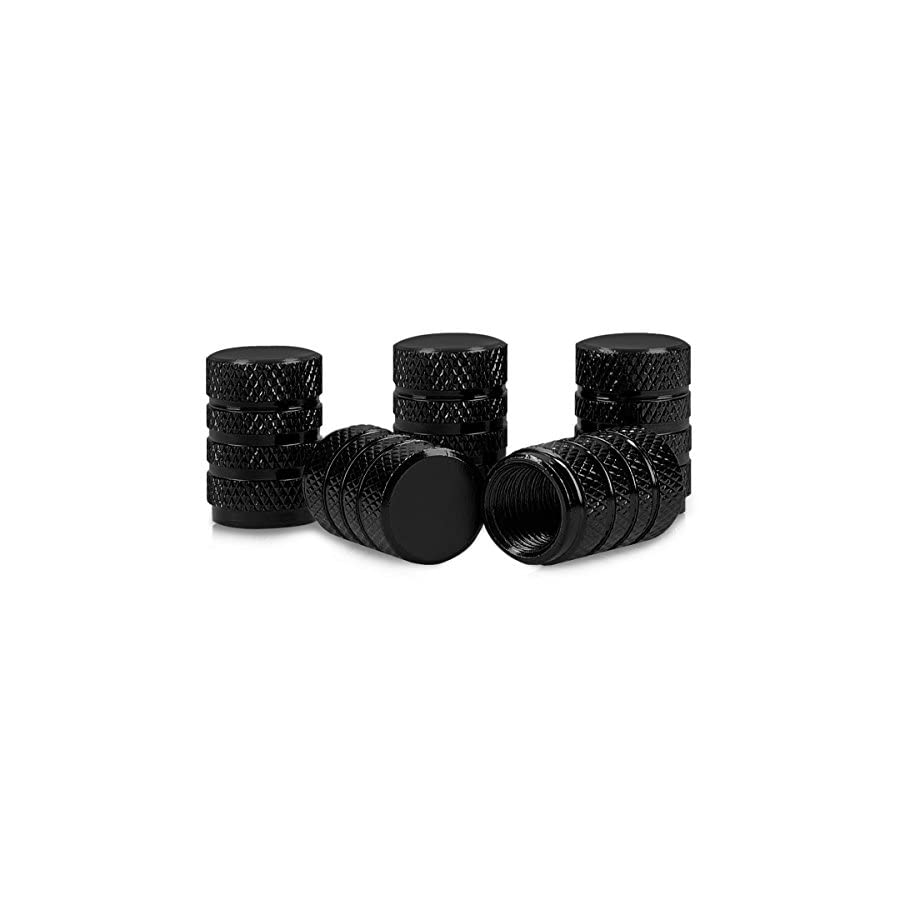 kwmobile 5X Valve Cap Metal Tire Valve Dust Caps for Car, Bike, Motorcycle Set of 5 Tire Stem Car Wheel Dustproof Cap