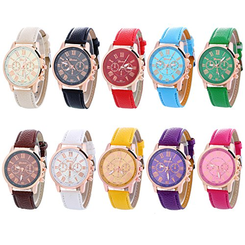 Geneva Women's Wholesale 10 Assorted Platinum Watch (10PACK-A3) from NYKKOLA
