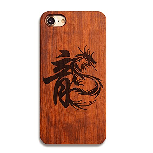 - iPhone 8 Case 4.7 inch, Luoke Wood Case Natural Wooden Walnut Painting Pattern Solid Wooden Bamboo Back Thin Cover Full Protective Skin Hard Insert PC for iPhone 8 4.7 Inch (Style 12)
