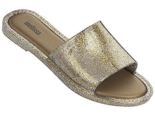 Melissa con Abierta Soul para Gold Sandalias Glitter Mujer Punta 3771 Dorado ArwHEnAxqf