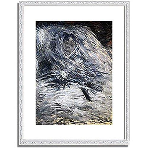 クロードモネ「死の床のカミーユ Camille Monet auf dem Totenbett 1879 」 インテリア アート 絵画 プリント 額装作品 フレーム:装飾(白) サイズ:L (412mm X 527mm) B00NUMYP06 3.L (412mm X 527mm)|6.フレーム:装飾(白) 6.フレーム:装飾(白) 3.L (412mm X 527mm)
