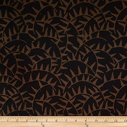 Parkside Fabrics Batik by Mirah Night Cruise Abstract Prints Brown Black Fabric Fabric by the Yard