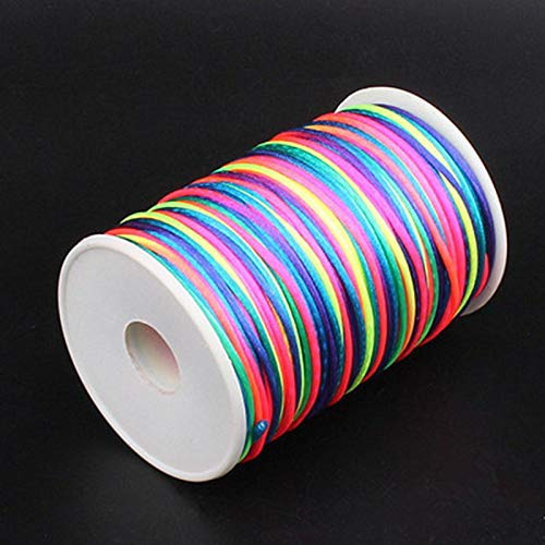 100M / Roll 2mm Rose Factory Price Polyester Thread Cord Lace Jewelry Findings Beading - Beading Finding