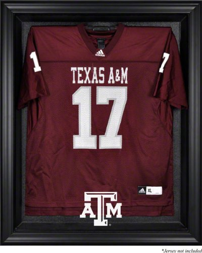 Texas A & M Aggies FramedロゴジャージーDisplayケース ブラック